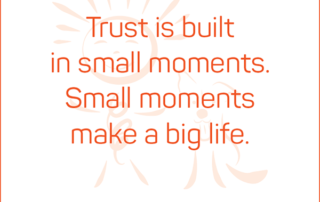 Trust is built in small moments. Small moments make a big life. #BendJOYProject