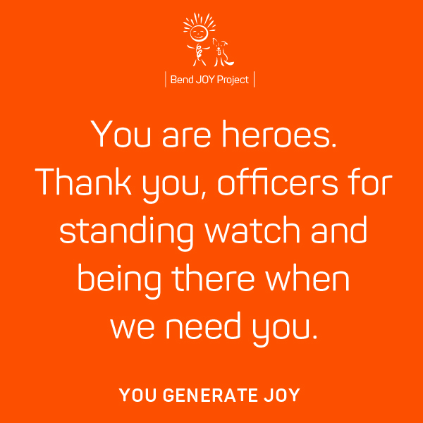 Thank You Poster for Police Officers – Poster #1
