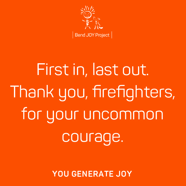 Thank You Poster for Firefighters – Poster #3